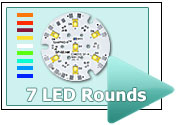 Custom 7 LED Rounds