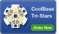 CoolBase Tri-Star LEDs