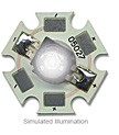 5027-PWC-08 - Luxeon TFFC K2 Star - Cool White 80 Lumens at 350mA