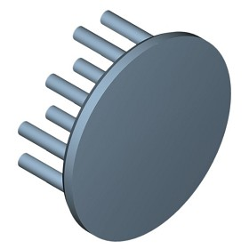 40 mm Round x 15 mm High Alpha Heat Sink - 10.7  °C/W