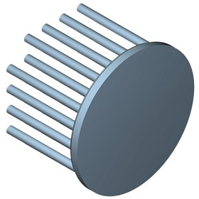 50 mm Round x 35 mm High Alpha Heat Sink - 5.5 °C/W