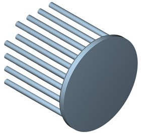 50 mm Round x 45 mm High Alpha Heat Sink - 4.9 °C/W