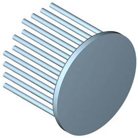 60 mm Round x 45 mm High Alpha Heat Sink - 3.9 °C/W