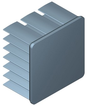 25 mm Square x 15 mm High Alpha Heat Sink - 15.6  °C/W