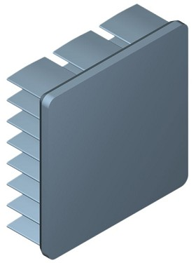 30 mm Square x 10 mm High Alpha Heat Sink - 15.0  °C/W
