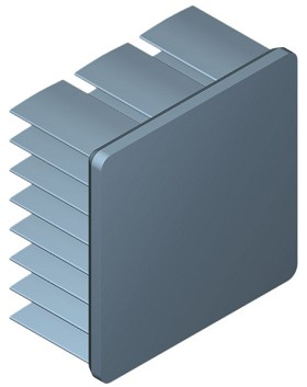 30 mm Square x 15 mm High Alpha Heat Sink - 13.0  °C/W