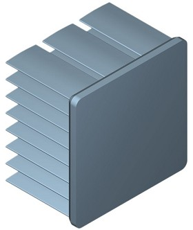 30 mm Square x 20 mm High Alpha Heat Sink - 11.3  °C/W