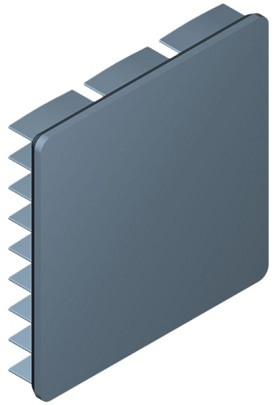 35 mm Square x 6 mm High Alpha Heat Sink - 14.4  °C/W