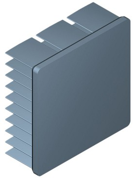 40 mm Square x 15 mm High Alpha Heat Sink - 9.1 °C/W