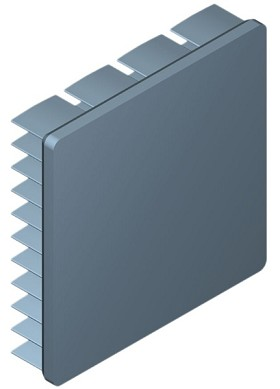 45 mm Square x 10 mm High Alpha Heat Sink - 9.0 °C/W