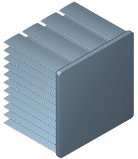 45 mm Square x 35 mm High Alpha Heat Sink - 5.0 °C/W
