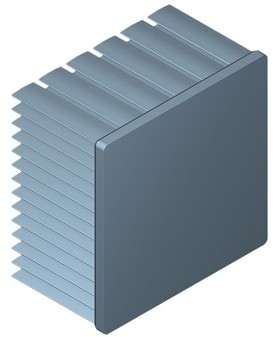 60 mm Square x 35 mm High Alpha Heat Sink - 3.7 °C/W