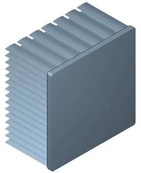 70 mm Square x 40 mm High Alpha Heat Sink - 2.55  °C/W