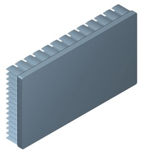 130 mm x 70 mm Rectangular 20 mm High Alpha Heat Sink - 2.45  °C/W