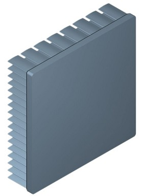80 mm Square x 20 mm High Alpha Heat Sink - 3.1 °C/W
