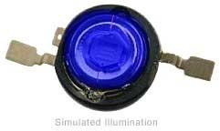 Luxeon Emitter LED - Royal Blue Batwing, 220 mW @ 350mA