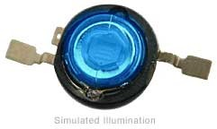 Luxeon V Emitter LED - Blue Side Emitting, 43 lm @ 700mA