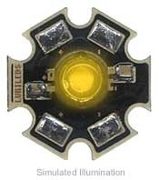 Luxeon III Star LED - Amber Side Emitting, 100 lm @ 1400mA