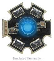Luxeon V Star LED - Blue Lambertian, 48 lm @ 700mA