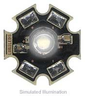 Luxeon III Star LED - White Lambertian, 65 lm @ 700mA