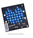 LXHL-MBJA - Luxeon 18 LED Flood LED - Blue Batwing, 180 lm @ 1050mA