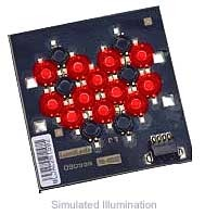 Luxeon 12 LED Flood LED - Red Batwing, 320 lm @ 700mA