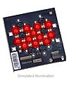 LXHL-MDCB - Luxeon 12 LED Flood LED - Red Lambertian, 525 lm @ 700mA