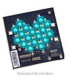 LXHL-MEJA - Luxeon 18 LED Flood LED - Cyan Batwing, 540 lm @ 1050mA