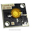 LXHL-ML1A - Luxeon Star/C LED - Amber Batwing, 25 lm @ 350mA