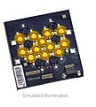 LXHL-MLCB - Luxeon 12 LED Flood LED - Amber Lambertian, 500 lm @ 700mA