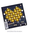 LXHL-MLJB - Luxeon 18 LED Flood LED - Amber Lambertian, 750 lm @ 1050mA