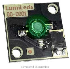 Luxeon Star/C LED - Green Batwing, 53 lm @ 350mA