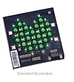 LXHL-MMJA - Luxeon 18 LED Flood LED - Green Batwing, 540 lm @ 1050mA