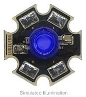 Luxeon Star LED - Royal Blue Batwing, 220 mW @ 350mA