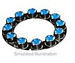 LXHL-NB96 - Luxeon 12 LED Ring LED - Blue Batwing, 100 lm @ 700mA