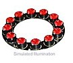 LXHL-ND92 - Luxeon 12 LED Ring LED - Red Lambertian, 450 lm @ 700mA