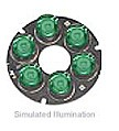 LXHL-NM97 - Luxeon 6 LED Ring LED - Green Batwing, 150 lm @ 700mA