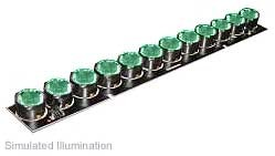 Luxeon 12 LED Line LED - Green Batwing, 300 lm @ 700mA