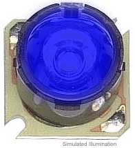 Luxeon Star/O LED - Royal Blue Batwing, 220 mW @ 350mA