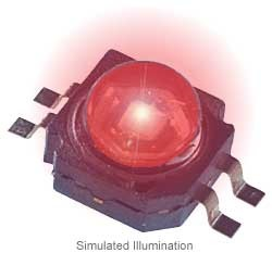 Luxeon K2 LED - Red Lambertian, 75 lm @ 700mA