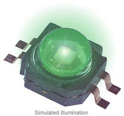 Luxeon K2 LED - Green Lambertian, 75 lm @ 700mA