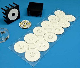 Pre-Cut, Thermal Adhesive Tape for 23 mm Quad LED Assemblies - (12 Piece Sheet)