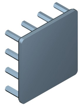30 mm Square x 10 mm High Alpha Heat Sink - 14.0  °C/W