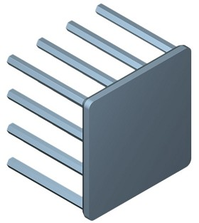 30 mm Square x 25 mm High Alpha Heat Sink - 9.5 °C/W