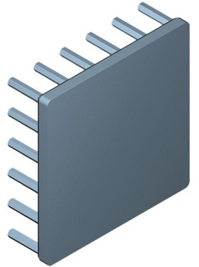 50 mm Square x 15 mm High Alpha Heat Sink - 6.3 °C/W