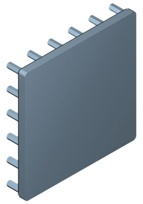 54 mm Square x 10 mm High Alpha Heat Sink - 7.1 °C/W