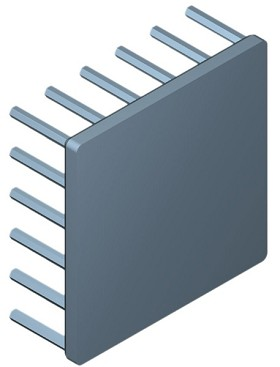 54 mm Square x 20 mm High Alpha Heat Sink - 4.9 °C/W