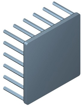 54 mm Square x 25 mm High Alpha Heat Sink - 4.4 °C/W