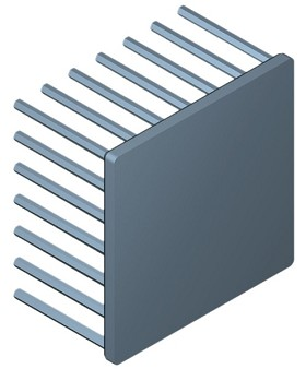60 mm Square x 35 mm High Alpha Heat Sink - 2.95  °C/W