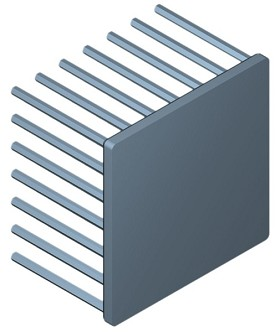60 mm Square x 40 mm High Alpha Heat Sink - 2.75  °C/W